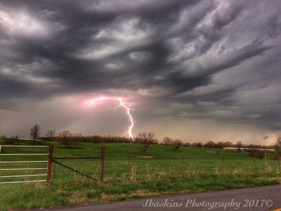 Got some nice daytime CGs as storms Moved through NW Arkansas yesterday! Lightning continued all the way into sunset, which I was Lucky to capture lighting next to the setting sun, I'll save that one for tomorrow! :) Decatur, AR 4/4/17