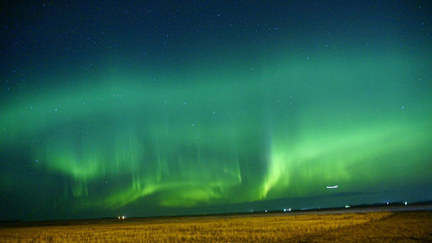 Just wow! It was so hard just to pick one!! It was so bright! Taken in Saskatchewan Canada grand coulee. On April 18th around 11:00 pm