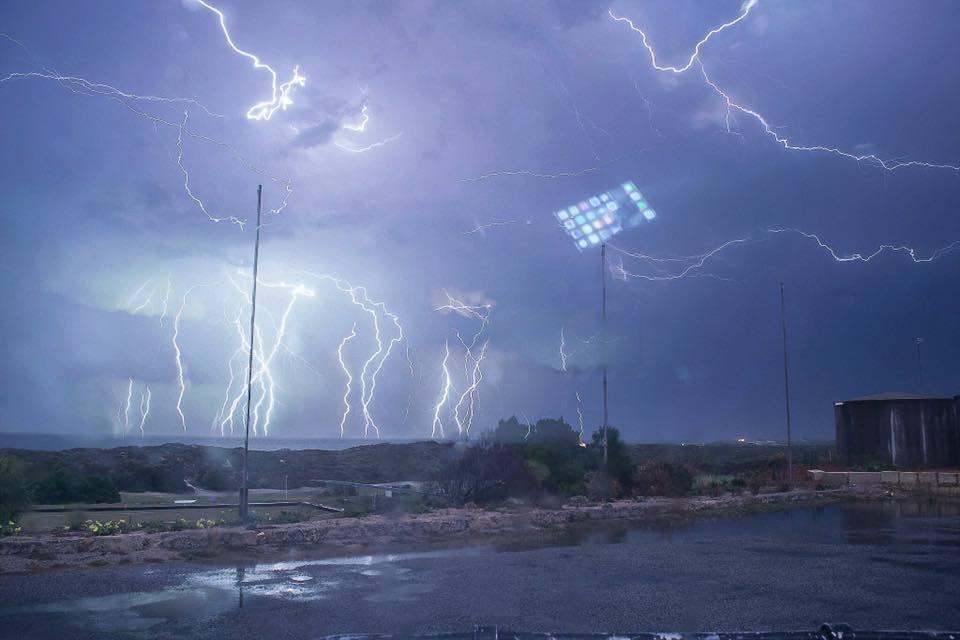 Awesome lightning barrage a few weeks ago