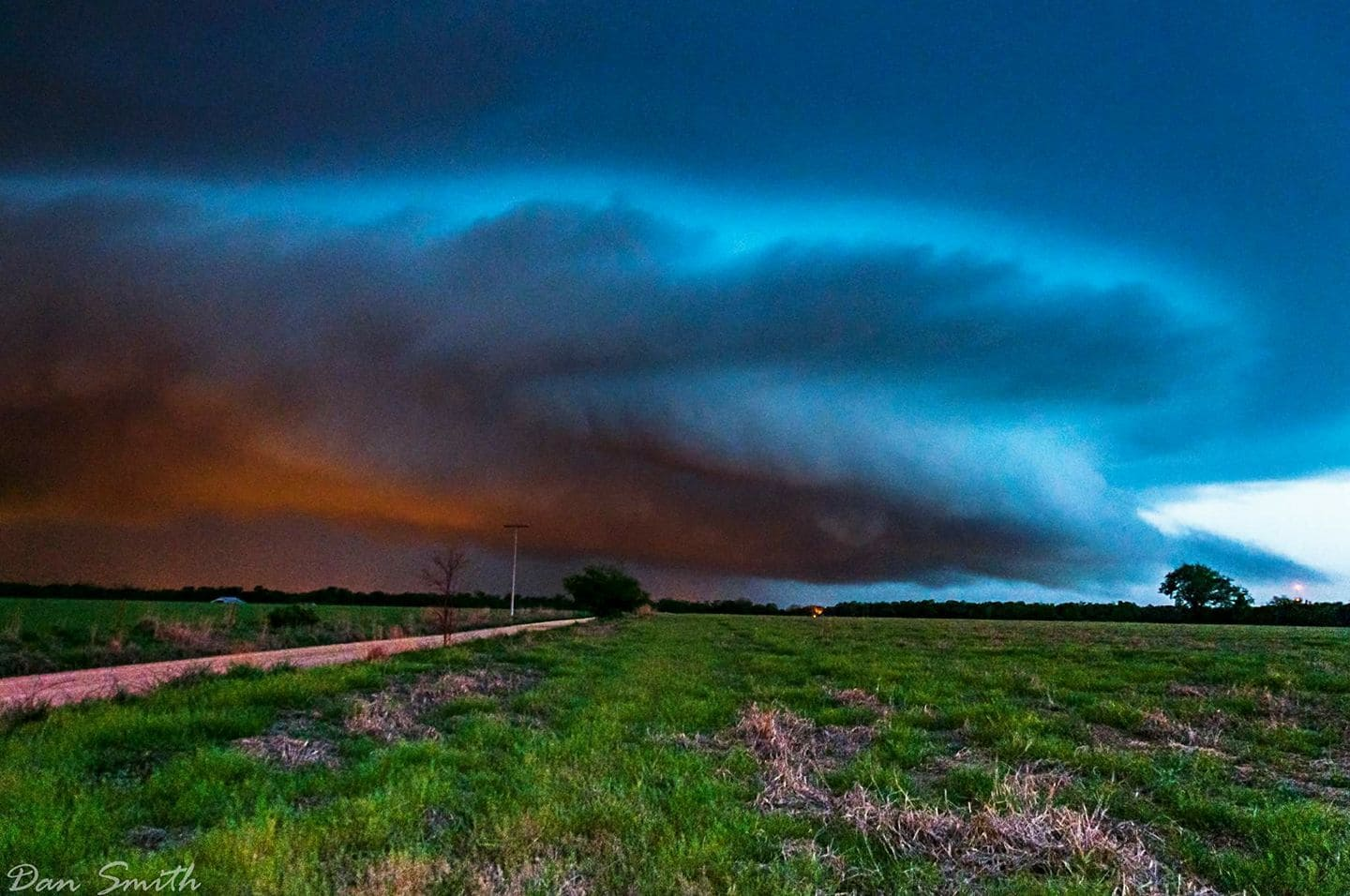 A likely Bowl funnel Under This Night Time supercell two nights ago near Copeland Oklahoma. It never went tornado warned but had great inflow and motion. She scored pretty high on my check list for a marginal risk area.