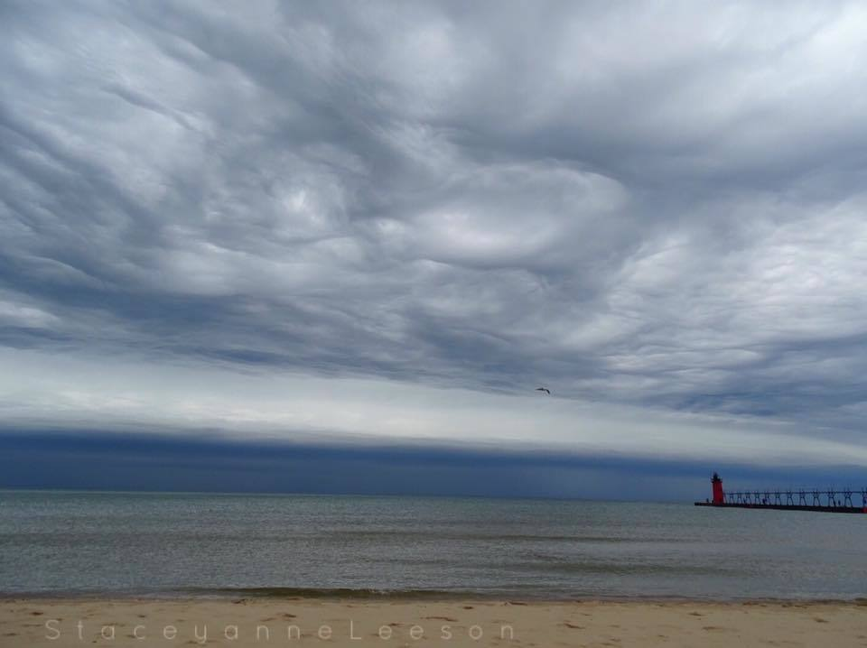 Mother Nature put on quite the show over Lake Michigan today in South Haven. — in South Haven, Michigan.