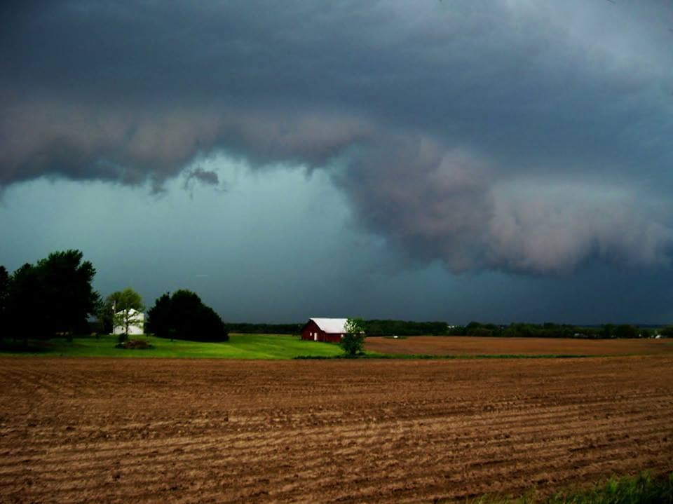 Illinois storms west of McLean Wednesday evening.