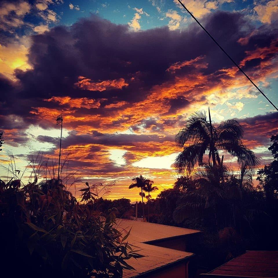 Blazing sunrise Murwillumbah this morning...