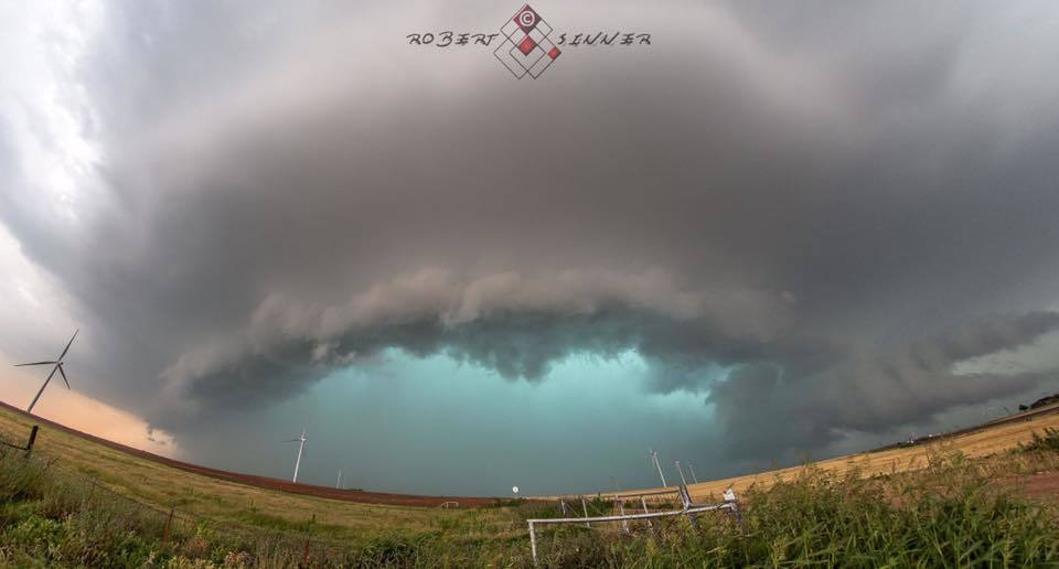 5-18-2017* Beautiful HP supercell east of Oklaunion, TX