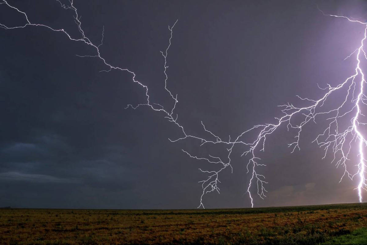 End to the chase days can sometimes be just plain electrifying. Lightning strikes.