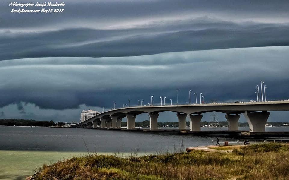 Shelf cloud this evening in Panama City Florida