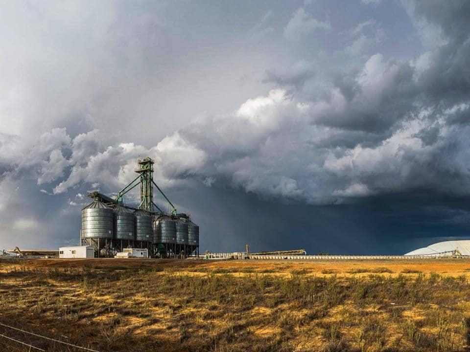 Thunderstorms in the Wheatbelt region of Western Australia last week