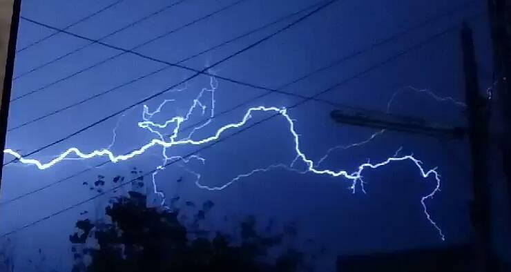 Three days ago thunderstorm popped out at evening produced some photogenic lightening.  Lahore Pakistan