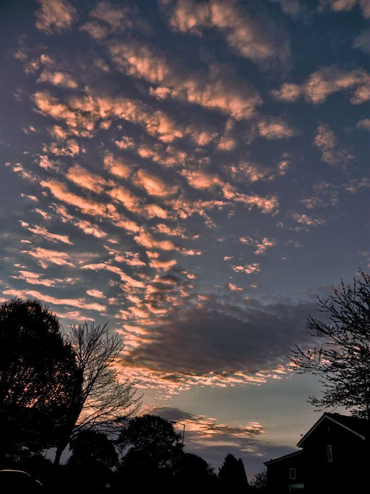 Last month the beautiful morning sky Stafford England