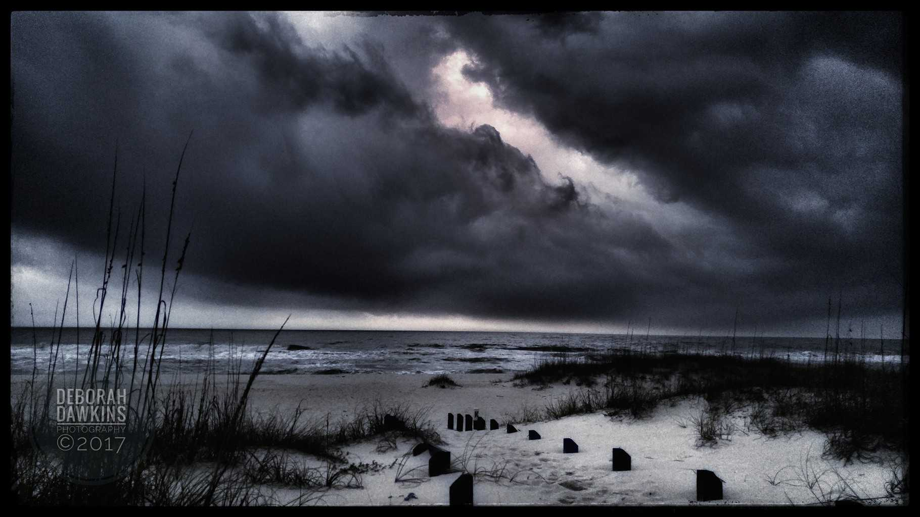 Approaching storm at Pensacola Florida