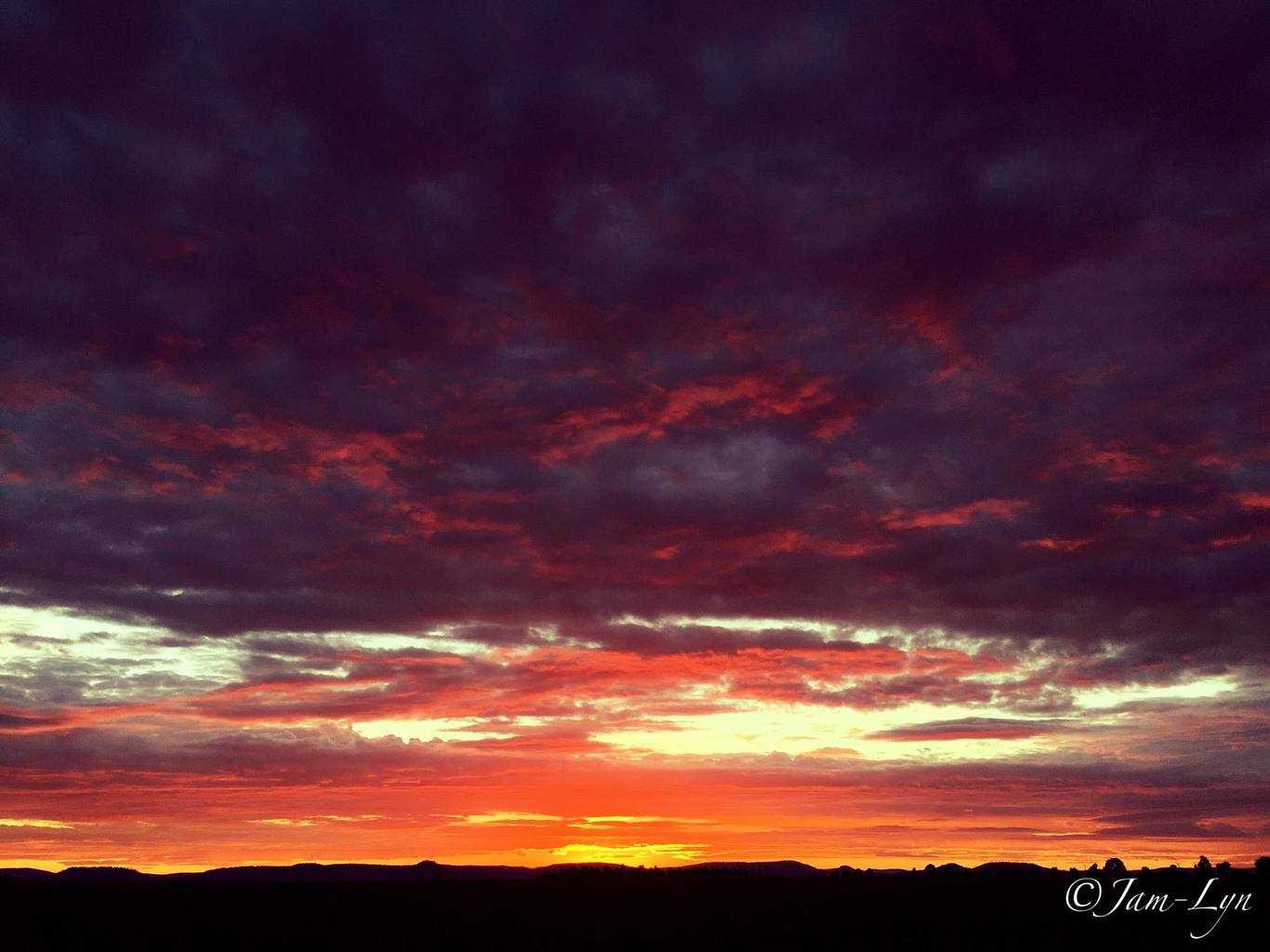 This mornings sunrise such beautiful colours!! South East Queensland  Australia