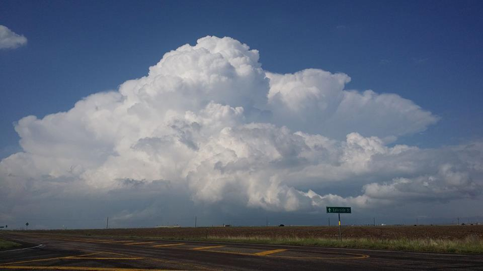Storm clouds North of Amarillo, TX, earlier in the day.