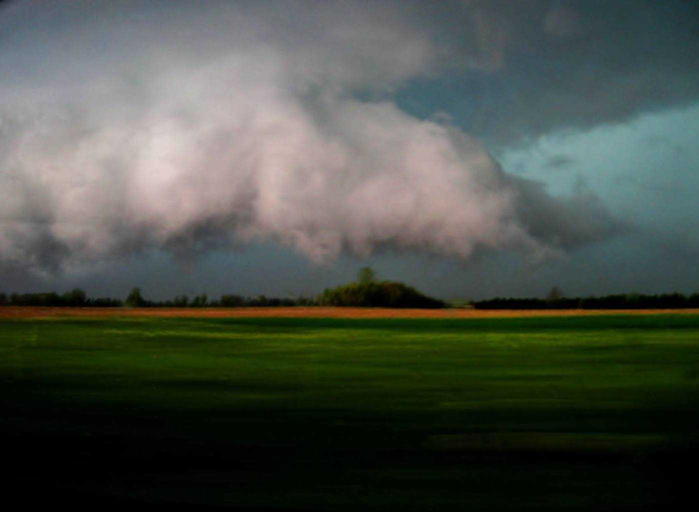 One of the few decent shots I was able to manage of the first severe storm to pass through the Lebanon, IN area last evening. At least God helped me pick the right route, even though staying in front of these fast-movers was nearly impossible. This one had a mean hail core as you can see from the colors.