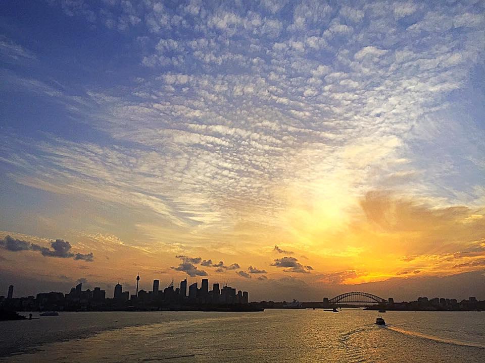Sunset over Sydney Harbour , Sydney Australia ( 2015 )
