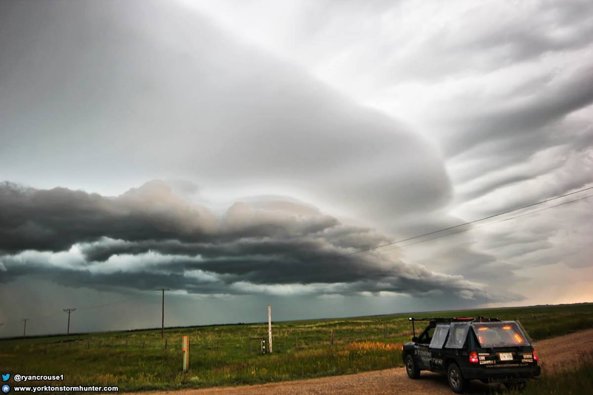 Storm-Finder vs. The Beast!!! July 2, 2016 Insanely beautiful Shelf Cloud near Ponteix Sk. Canada I sat watching this for well over an hour form!