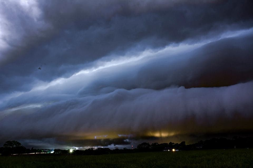 From the storms that rolled through Bella Vista Ar Friday nightv