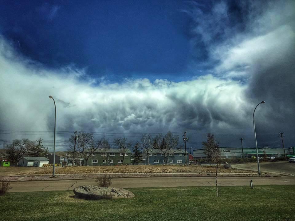 Mammatus clouds April 29th, 2017 Drumheller, Alberta Canada