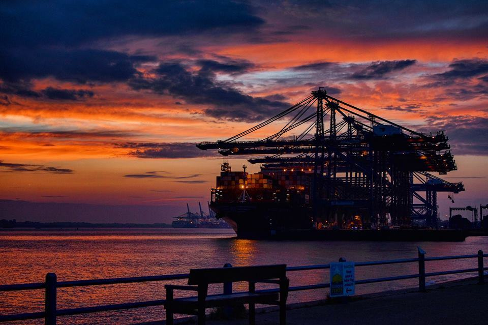 One of my personal favourite sunset photos I have ever taken. The setting of the cranes infront of the sunset and the colours in the sky is incredible.