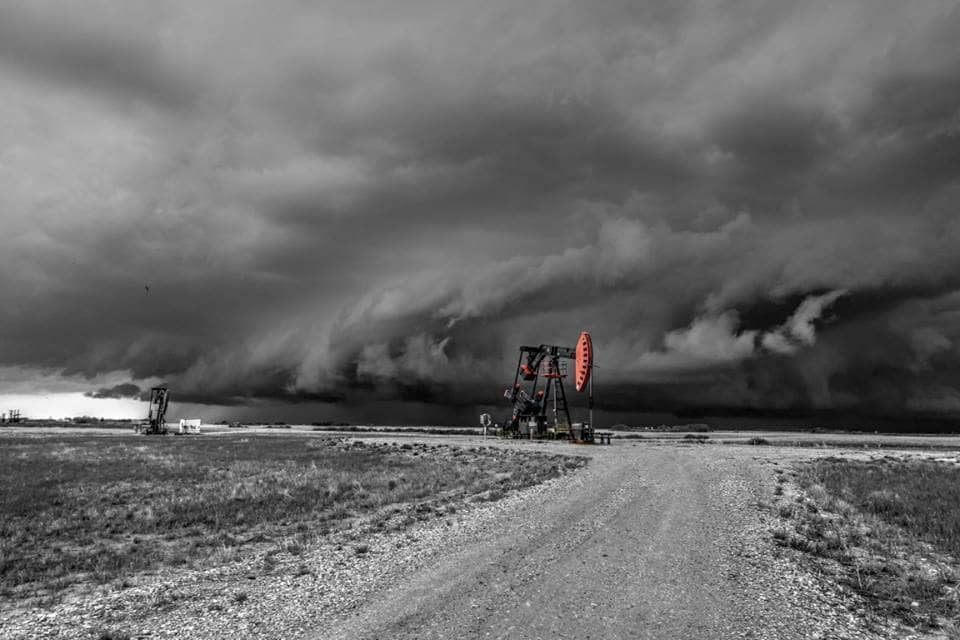 Colour Play with Pumpjack