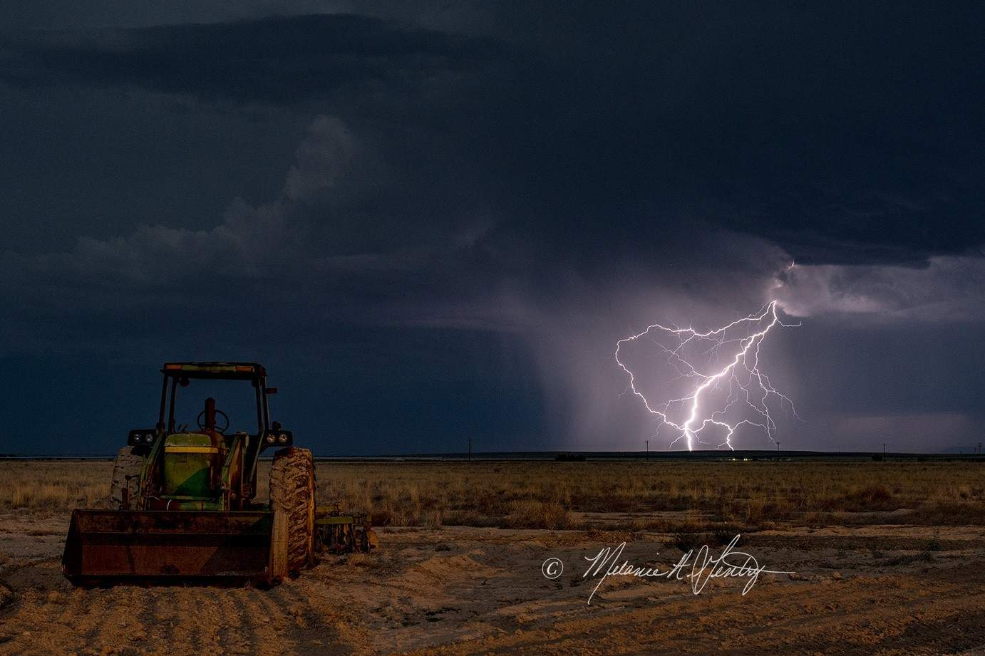 The 'ol John Deere was still in a prime location for another round of storms in far west Texas and southern NM last night.