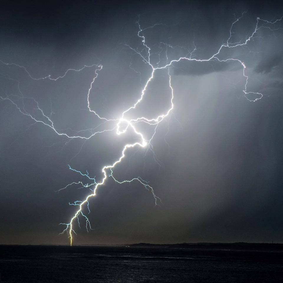 Awesome lightning strike captured last year in Lancelin Western Australia