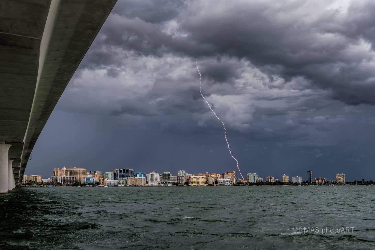 Lightning in sarasota. Finally. But alas it was in the daytime.