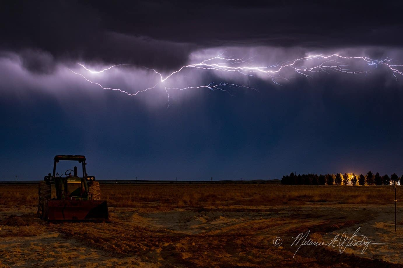 A pop up thunderstorm and an old John Deere in far west Texas - what a great way to wrap up the weekend and start the week ahead!