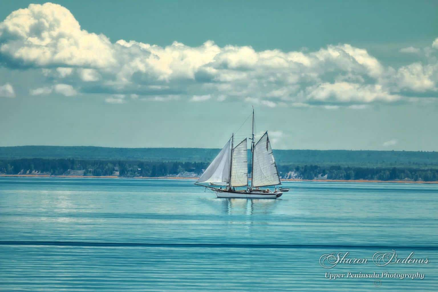 Wow, how would you like to be out there sailing on this awesome boat!! Lake Superior yesterday. I only had about 5 min to photograph this boat over by the lighthouse. Added a bit of a vintage look to it since it was midday and very contrast. Have a wonderful and blessed day everyone!