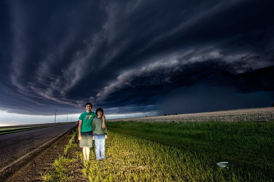This week was a proud week for me as my oldest two children finally have the storm chasing bug...Here under the beast storm from two days ago as a massive HP storm pushed from eastern CO into KS (pictured here).