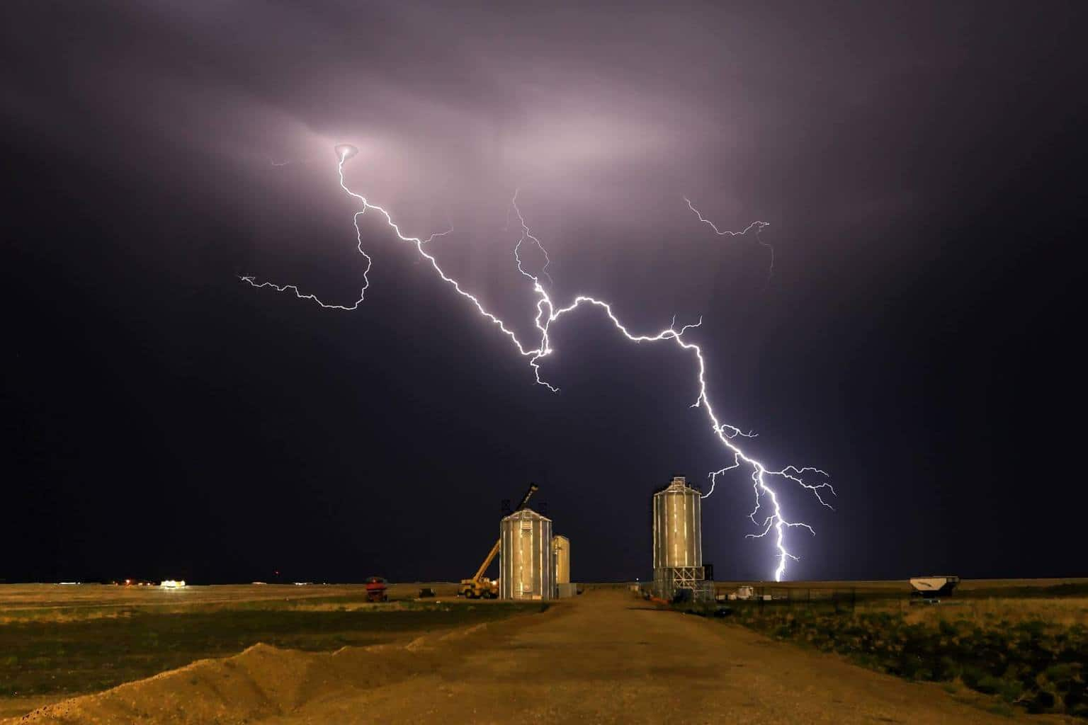 Bolt of lighting from last weeks short chase just west of Regina Saskatchewan