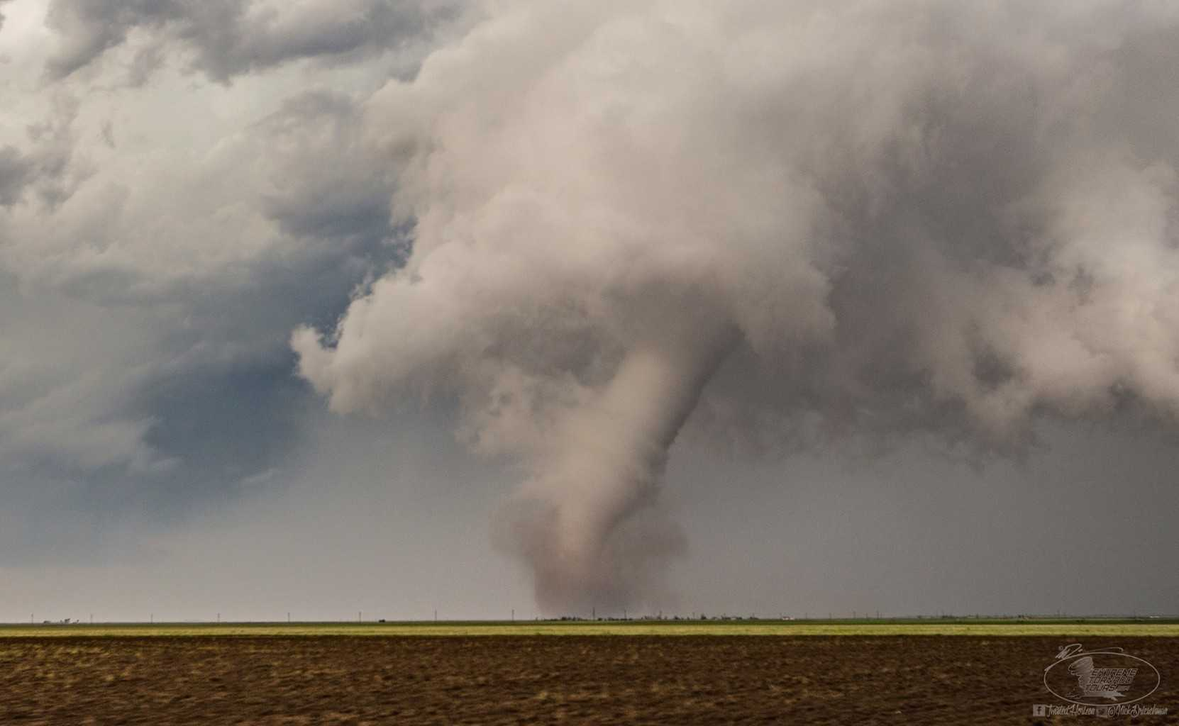First of a handful of tornadoes chased yesterday in Northeast Colorado that moved into Wyoming and then into Nebraska from a single cyclic supercell that at times had three mesocyclones.