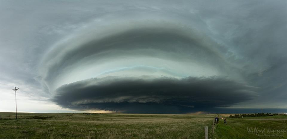 Enormous tornado warned HP supercell between Otis and Burlington, northeast Colorado. One of the most beautiful supercells I've ever captured on camera!