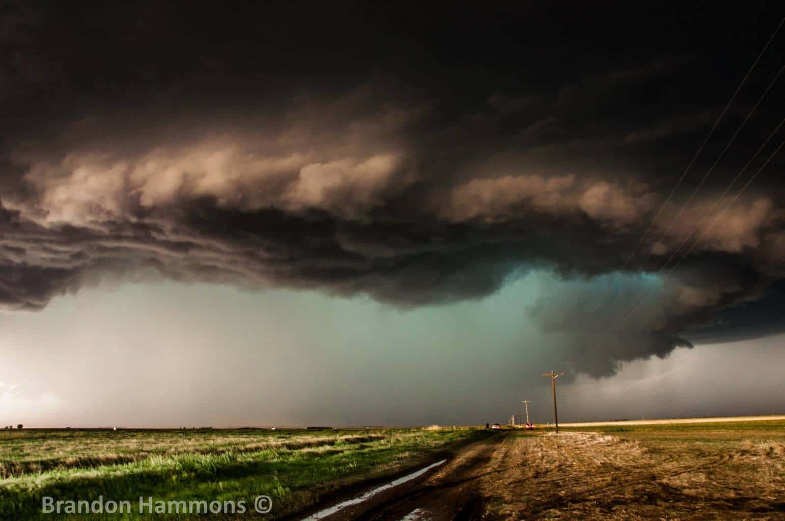 Going green!! HP supercell northwest of Burlington, CO (5/26/17)