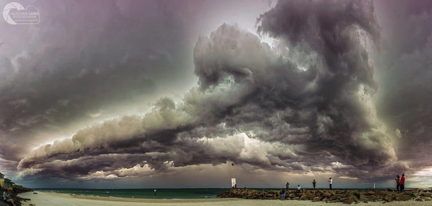 Squall line coming over Port Phillip Bay, Melbourne on the 8th April 2017. For memory this was a 8 or 10 image stitched panoramic.