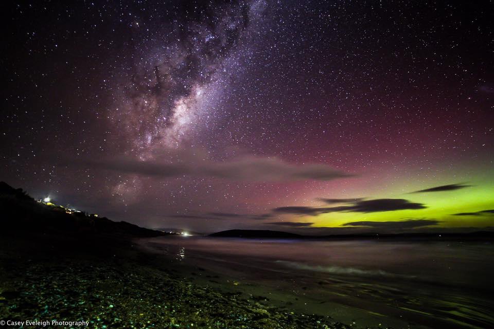 Last nights aurora  Tasmania Australia  Around 8pm.
