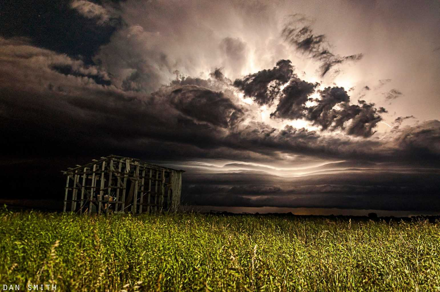 Last night this abandoned shed made a nice foreground for a severe storm rolling into Lamar, Missouri