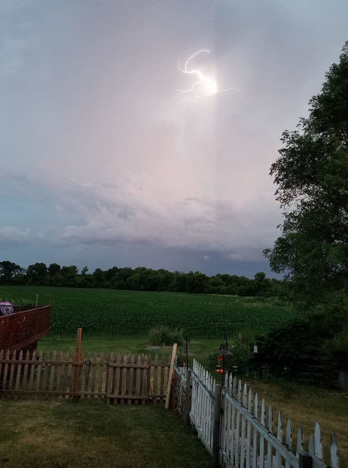 My first cell phone shot of lightning. Storm last night in Rock county