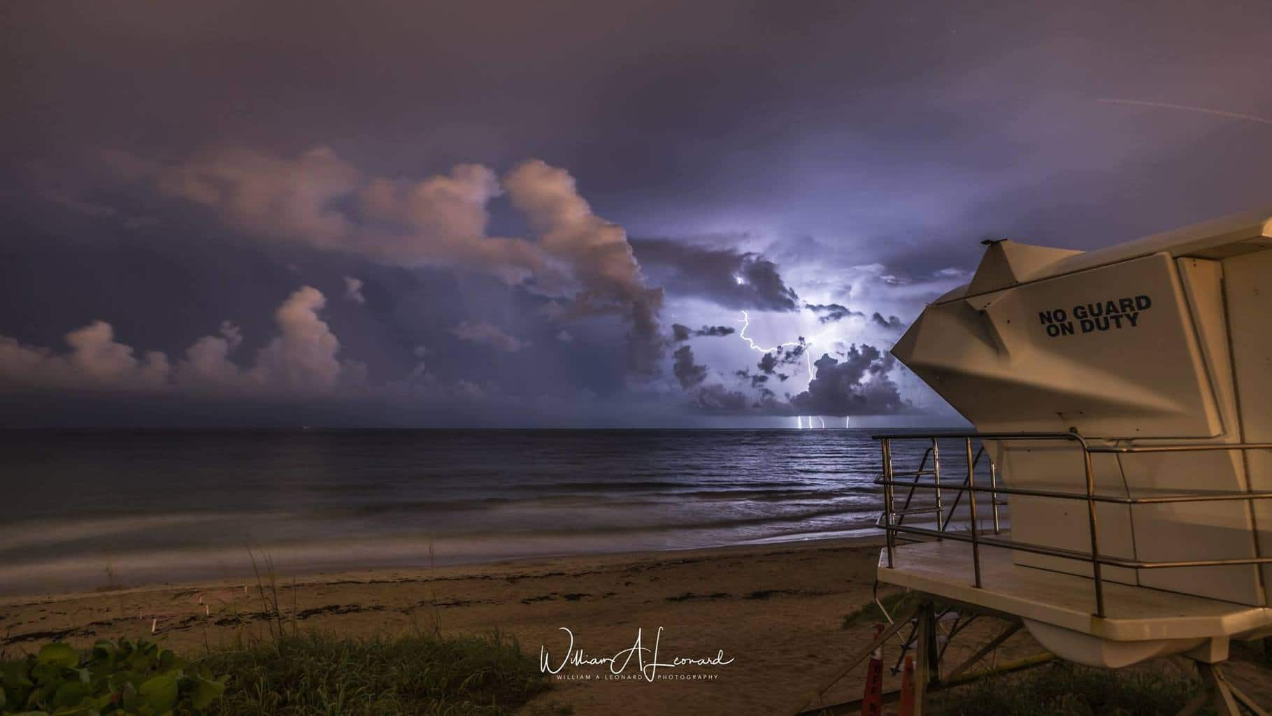 Small Cell Off Palm Beach last night testing the Pluto Trigger