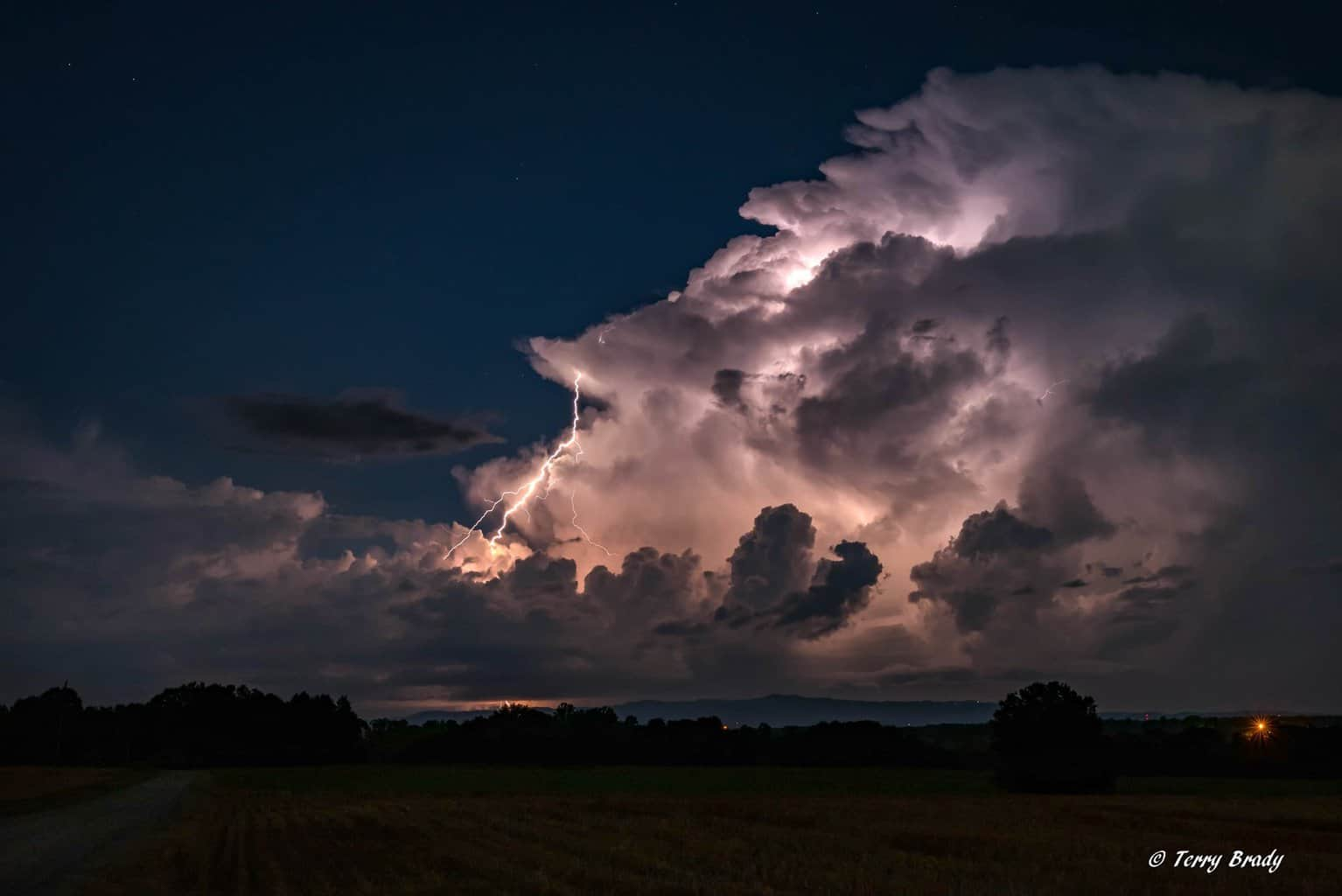 Storm over the south mountains of North Carolina.