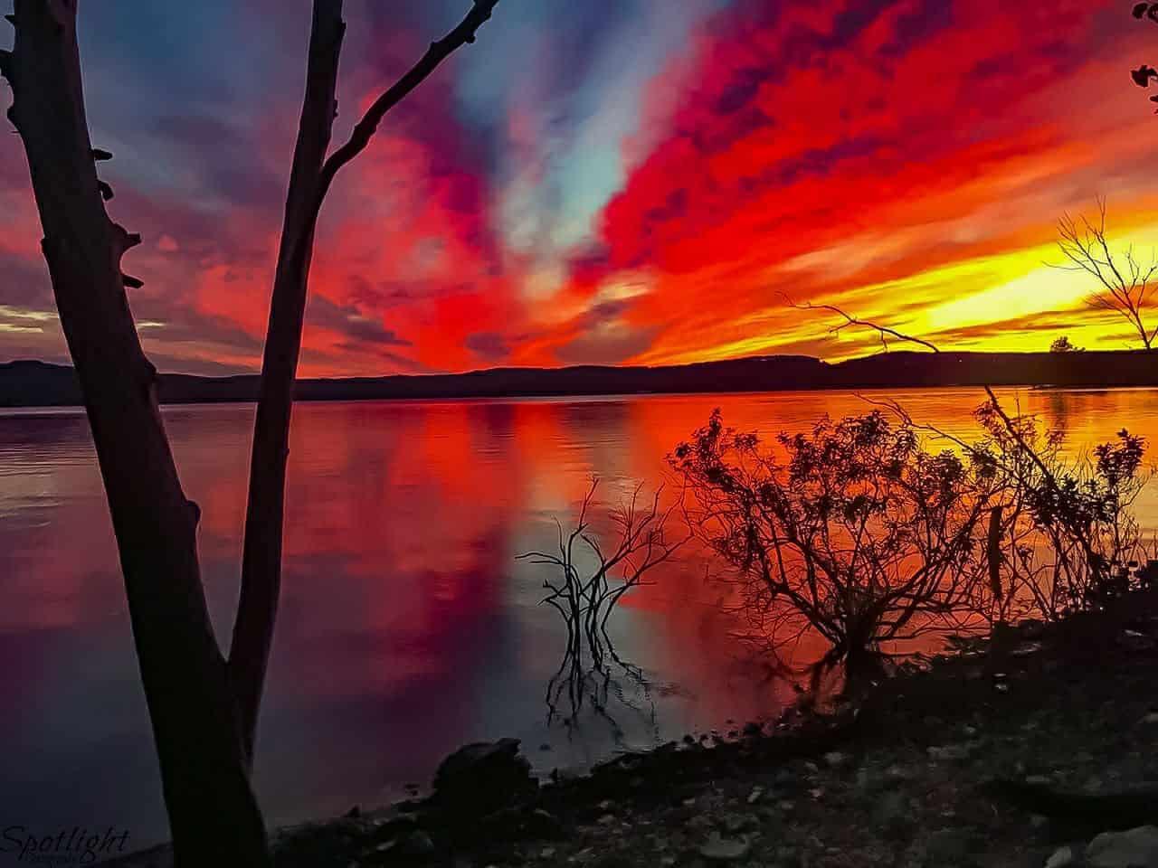 Sunset over Branson mo. Taken last year