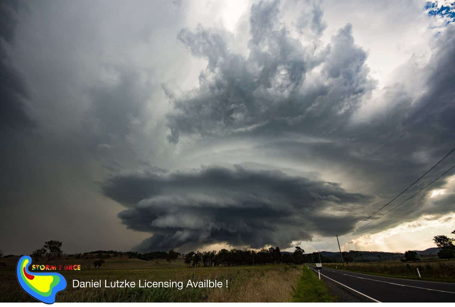 hi all this would have to be my favourite storm,  this supercell was on a very marginal day in OCT  2017 this classic supercell storm, it tried to from over Rathdowney and was very hp mess. I tracked the storm for 30 km north, when this epic structure came out of the rain and was going hard north just west of town with strong winds and golf ball hail an hour after this photo and like that was all over and had fully disappeared ,, there wasn't to many structured storms like that this season but I hope there will be next season .