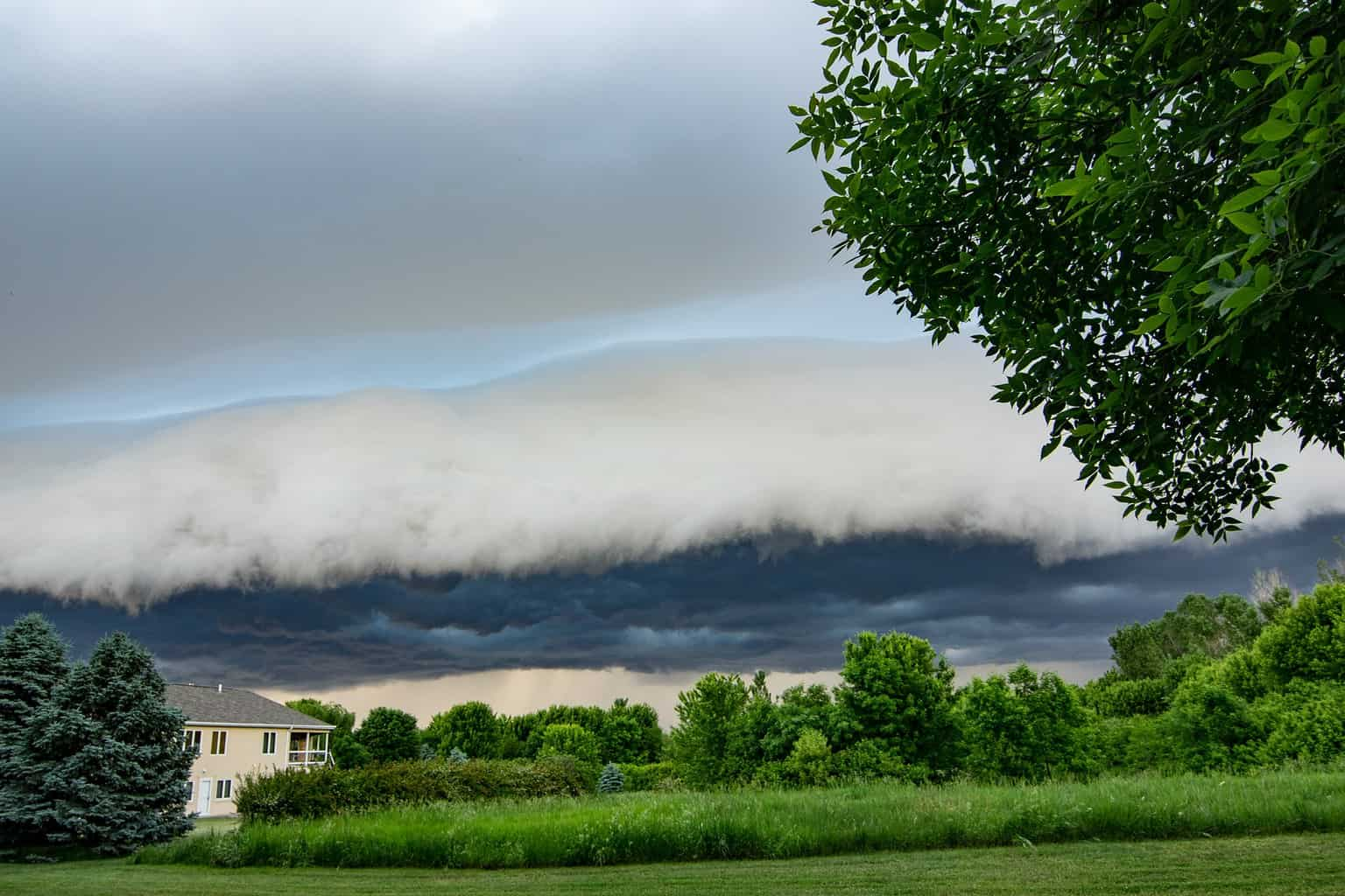 Shelf cloud #2. I ran inside to tell my kids they need to see this so we headed out and I continued to take pics.