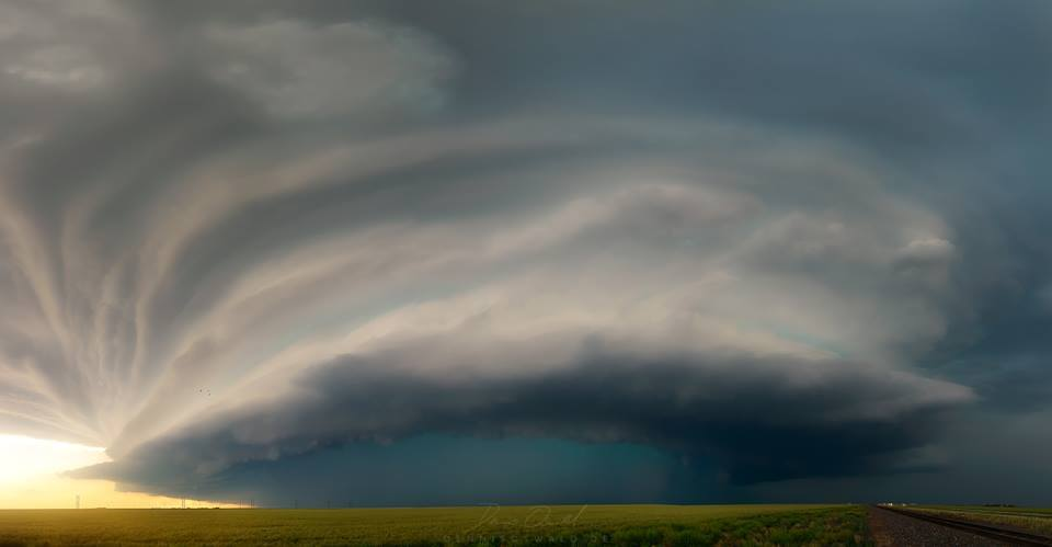 Supercell just outside of Stratford, TX May 2016.