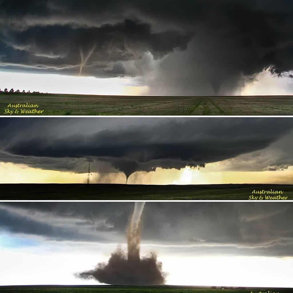 What a day, what memories!! The Simla-Matheson day still has to be the most amazing tornado day for me - we only changed our location once and were treated to an amazing show!!! Cyclonic and anticyclonic Tornadoes on the ground at the same time. We were astonished at the variation in the look of tornadoes south of Matheson, Colorado. The rapidity of change, including strengthening and weakening. 4th June 2015 Photos: Jane ONeill/Clyve Herbert