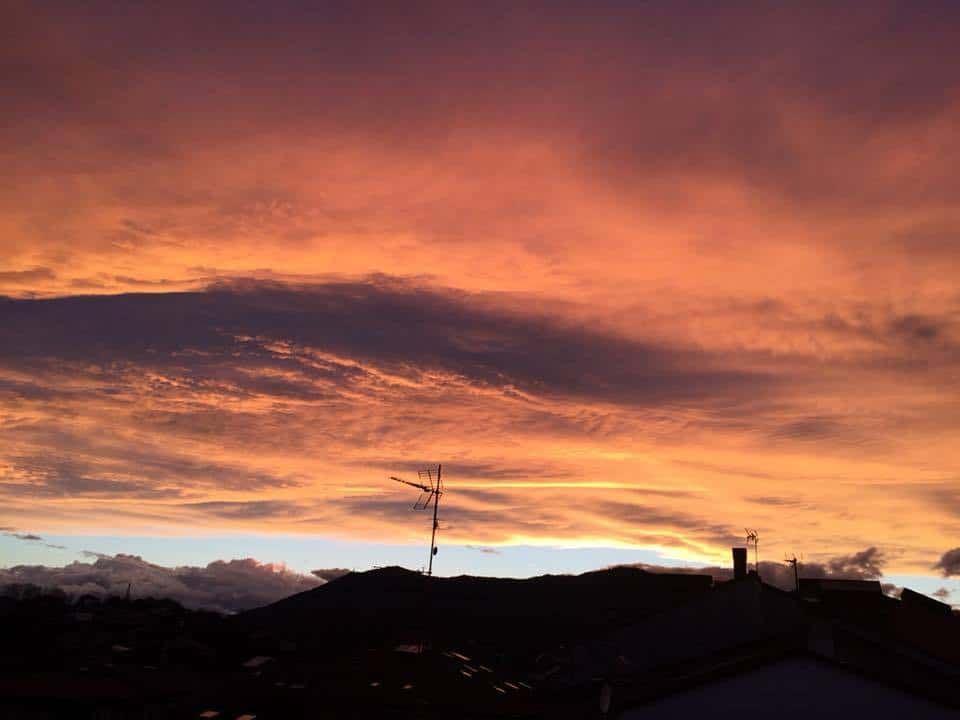 Great sunset today in Hondarribia (Spain)