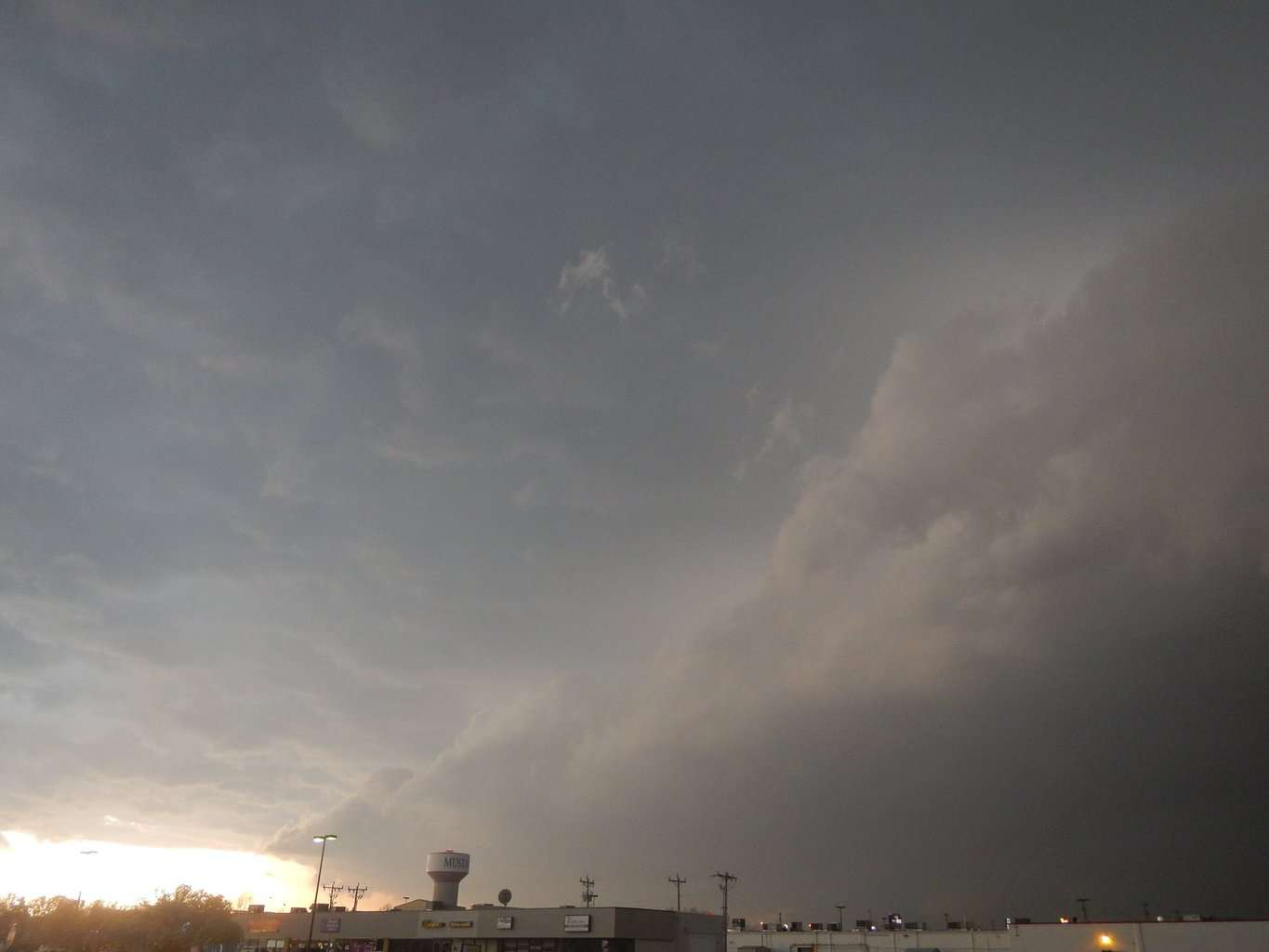 I AM READY FOR SOME MARCH STORMS like this one I captured in Mustang, Oklahoma of a tornadic supercell to the 6 miles WSW of Yukon, Oklahoma on March 25, 2015. The Storm Prediction Center reported it as an anti-cyclonic tornado observed north of SW 15th street and Gregory Road. This storm also produced ping pong size hail and later would produce 73 mph winds 3 miles south of Mustang, Oklahoma.