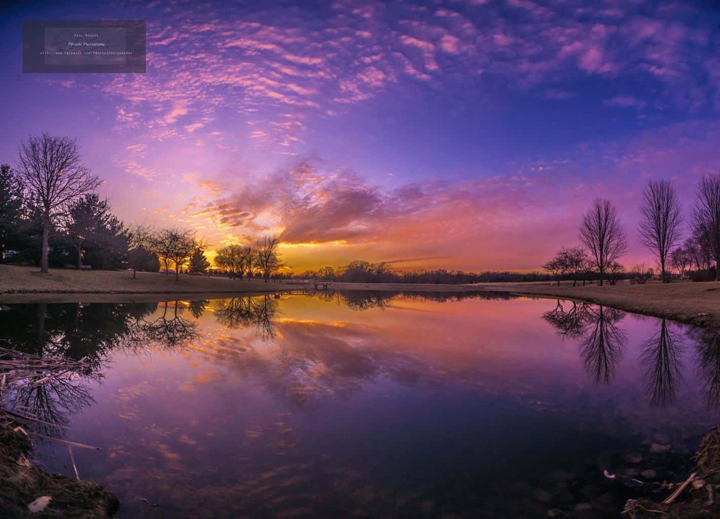 Sunset at Discovery Park, Muscatine, Iowa this past Saturday. 9 image vertical panoramic stitch, ISO 400, f2.8, 1/1000th, with a Sony A7ii.