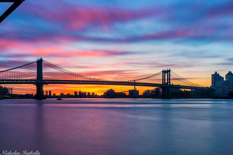 This mornings sunrise along the East River from Manhattan. It was nice to see a colorful sky after a few weeks with cloudy days.