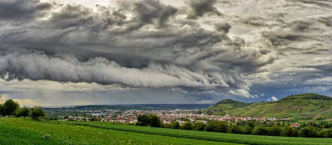 The Wave... Severeweather over the Outletcity of Metzingen. Spring 2017