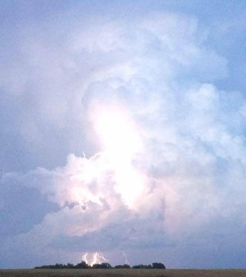 Southern Kentucky...couple years ago. Not a very good quality pic, but my best lightning shot to date.